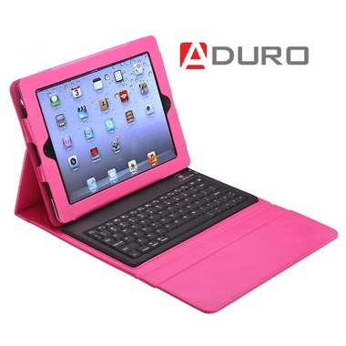 Aduro Liqua-Shield iPad Folio Case with Wireless Bluetooth keyboard for iPad 2/3