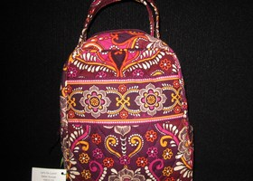 nwt Vera Bradley Let's Do Lunch Bag Safari Sunset
