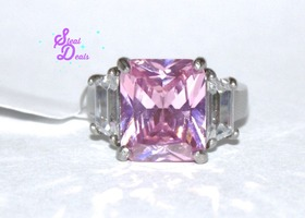 Pretty in Pink Stainless Steel Ring