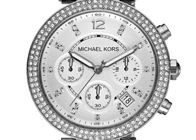 Michael Kors Chronograph Parker Stainless Steel Watch