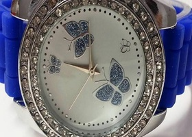 Elegant Blue Butterfly Watch