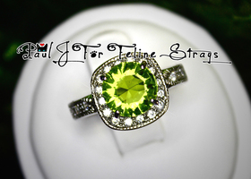 5 6 7 8 9 10 Shifting Viridian AAA Grade CZ Ring