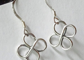 Solid Sterling Silver - Lucky Shamrock earrings