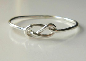 Solid Sterling Silver Infinity knot ring