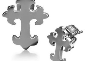Stainless Steel Cross Earrings