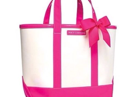 New Juicy Couture Pink & White Large Tote - Nylon - Hot