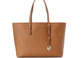 Michael Kors Medium Jet Set Saffiano Travel Tote