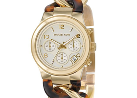 MK Runway Twist Gold & Tortoise Watch