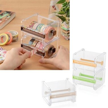 Cutter Washi Desktop Tape Dispenser Roll Holder Tape Cutter