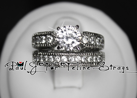5 6 7 8 9 10 Diamond Cut CZ Vintage Inspired Ring Set