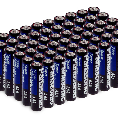 16 BATTERIES: Panasonic Heavy Duty AA or AAA Batteries