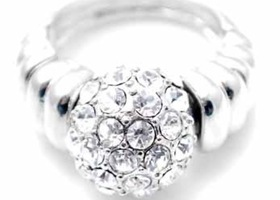 Center Crystal Ring Adjustable Size