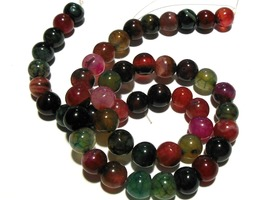 *1 Strand Natural Round Dragon Vein Agate Beads 8mm