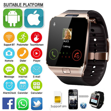 2017 Hot Sell Bluetooth Smart Watch Pedometer Camera, Anti lost 32GB & SIM Suppo