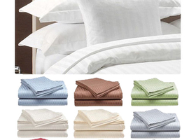Queen King 4-Piece Set: 100% Cotton Sateen Bed Sheets