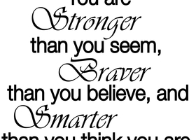 Wall Decal - You Are Stronger Than You Believe