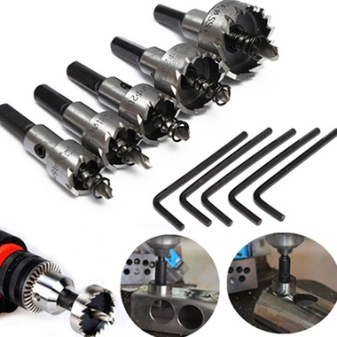HSS Hole Saw Set Stainless Steel Metal Alloy Wood Hole Cutter