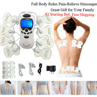 FREE Shipping !!! 8 Pads !!! Full Body massage Shaper Slimming Tens Acupuncture