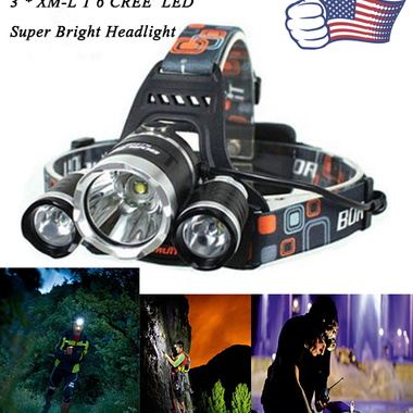 5000 Lumens Headlamp LED Flashlight Bright Headlight Torch for Hiking Camping Ri