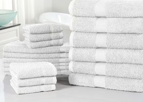 Cotton Ultra-Absorbent 18-Piece Towel Set