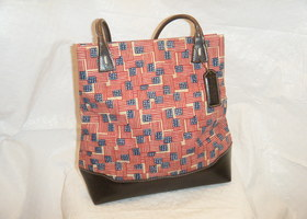 Longaberger Flag Print Tote bag