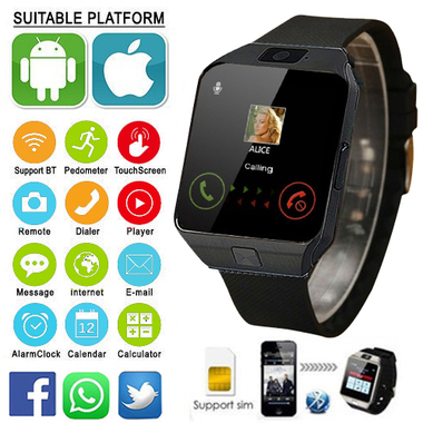 Hot Sell Original Smart Watch DZ09,Sim Watch,Smartwatch, Support UP to 32GB TF C