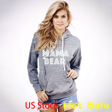 MaMa Bear Print Top Sweatshirt