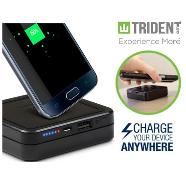 Trident Qi Wireless Charging Pad / 6000 mA/h Battry for Samsung Galaxy S8 / S8 P