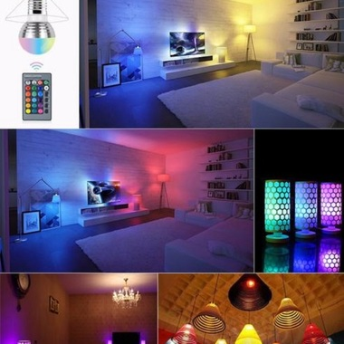 1Pcs Lovely 16 Colors RGB Christmas Decor Atmosphere LED Night light E27 3W 110