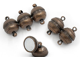 5+ sets Antiqued Copper Magnetic clasps