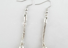 8 Pc. Silver Tone Euro Earring Danglers