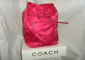 NWT Coach Getaway Signature Nylong Backpack