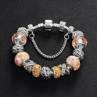 Luxury Pandora Beads Link Chain Charms Bracelet Statement Bracelet for Gift 6 Co
