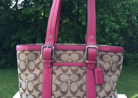 22Coach Hampton Signature Lunch Tote F12645*Barely Used