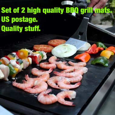 Set of 2 high quality bbq grill mats. Like seen on TV