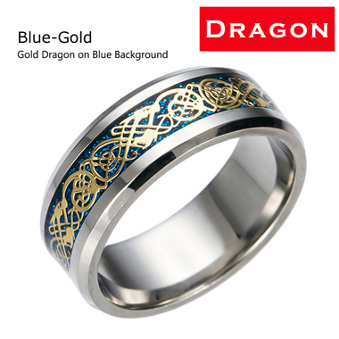 Titanium Steel Dragon Ring