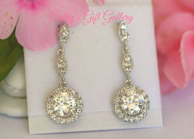 Elegant Swiss Cubic Zirconia Earrings