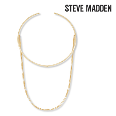 Steve Madden Open Collar with Curb Chain Choker
