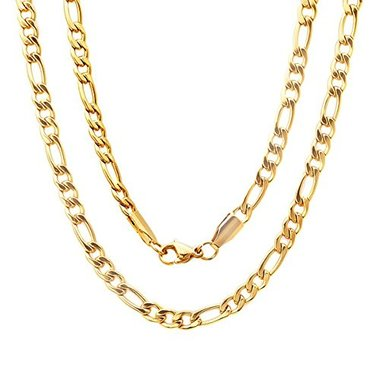 14K Gold Filled Figaro Chain 24