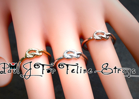 "✦ 5-10 ""Forget Me Knot"" 3 Piece Ring Set in 3 Finishes"