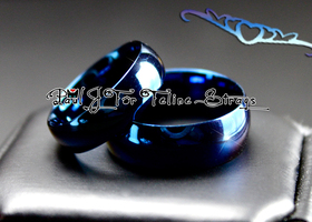 Szs 5-14 True Blue IP Love ♥ Stainless Steel Ring Set