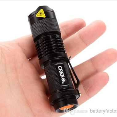 Flash Light 7W 300LM CREE Q5 LED Camping Flashlight Torch Adjustable Focus Zoom