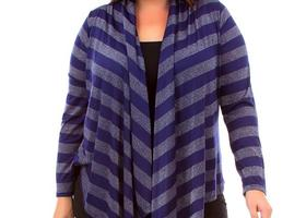 Plus size top with cascading front