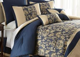 King 8 Piece Jacquard Comforter Set AMANDA
