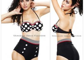SIZE:L Cutest Retro Swimsuit Swimwear Vintage Pin Up Hi