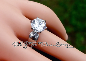 ✦ 5 6 7 8 9 10 ~6.35ct Tiffany Setting Princess Ring