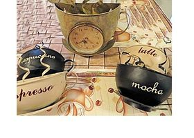 Cafe Crazy Coffee Theme 5 Piece Set