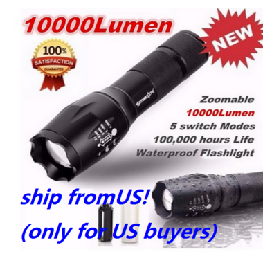 2017 Hot Sell E17 CREE XML T6 LED Zoom Flashlight Waterproof Torch 3000Lm 5 Mode