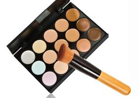 Pro Concealer Palette and Blending Brush~15 Colors