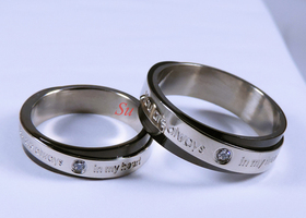"""You are always in my heart"" Couple Rings (2 Rings)"